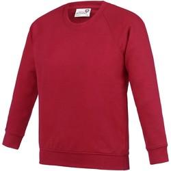 textil Barn Sweatshirts Awdis AC01J Röd