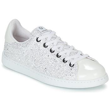 Skor Dam Sneakers Victoria TENIS GLITTER Vit