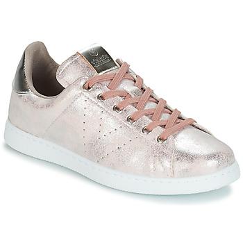 Skor Dam Sneakers Victoria TENIS METALIZADO Rosa