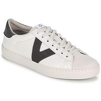 Skor Herr Sneakers Victoria BERLIN PIEL CONTRASTE Vit / Grå