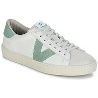 Skor Herr Sneakers Victoria BERLIN PIEL CONTRASTE Vit / Grön