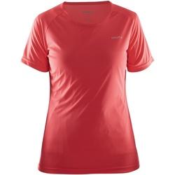 textil Dam T-shirts Craft CT86F Röd