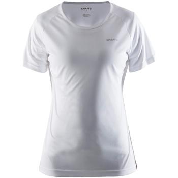 textil Dam T-shirts Craft CT86F Vit