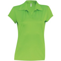 textil Dam Kortärmade pikétröjor Kariban Proact PA483 Lime