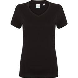 textil Dam T-shirts Skinni Fit SK122 Svart