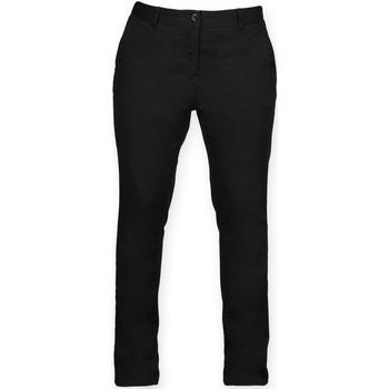 textil Dam Chinos / Carrot jeans Front Row FR622 Svart