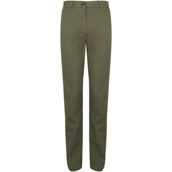textil Dam Chinos / Carrot jeans Front Row FR622 Khaki