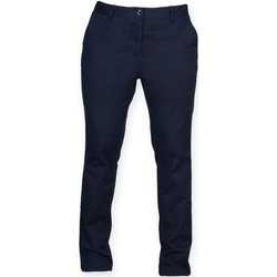 textil Dam Chinos / Carrot jeans Front Row FR622 Marinblått