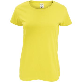 textil Dam T-shirts Fruit Of The Loom 61420 Gul