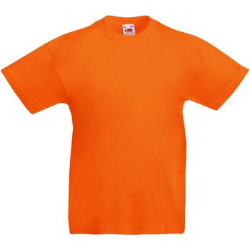 textil Barn T-shirts Fruit Of The Loom 61019 Orange