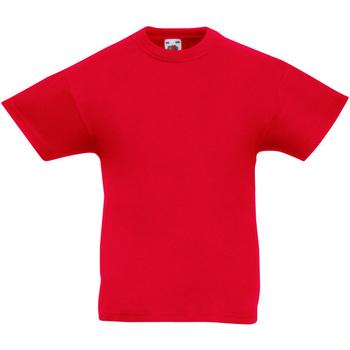 textil Barn T-shirts Fruit Of The Loom 61019 Röd