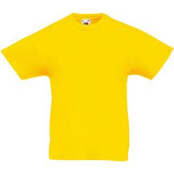 textil Barn T-shirts Fruit Of The Loom 61019 Gul