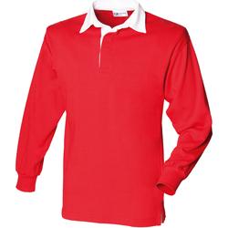textil Barn Långärmade pikétröjor  Front Row FR109 Röd