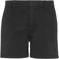 textil Dam Shorts / Bermudas Asquith & Fox AQ061 Svart