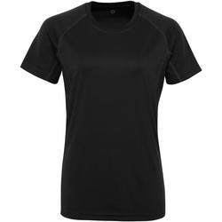 textil Dam T-shirts Tridri Panelled Svart