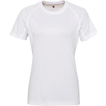 textil Dam T-shirts Tridri Panelled Vit