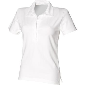 textil Dam Kortärmade pikétröjor Front Row FR78M Vit