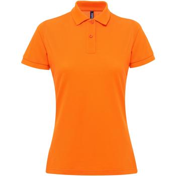 textil Dam Kortärmade pikétröjor Asquith & Fox AQ025 Orange