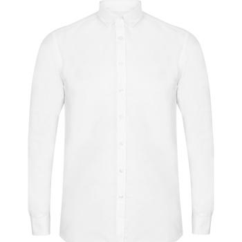 textil Herr Långärmade skjortor Henbury HB512 Vit