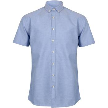textil Herr Kortärmade skjortor Henbury HB517 Blå