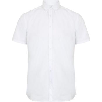 textil Herr Kortärmade skjortor Henbury HB517 Vit