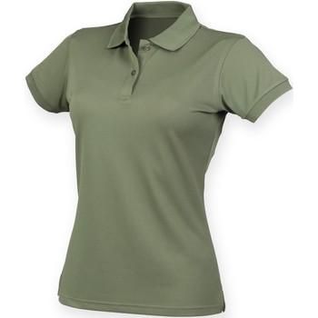 textil Dam Kortärmade pikétröjor Henbury Coolplus Olive