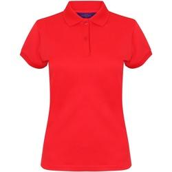 textil Dam Kortärmade pikétröjor Henbury Coolplus Röd