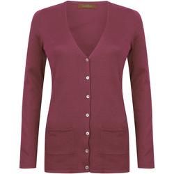 textil Dam Koftor / Cardigans / Västar Henbury Fine Knit Bourgogne